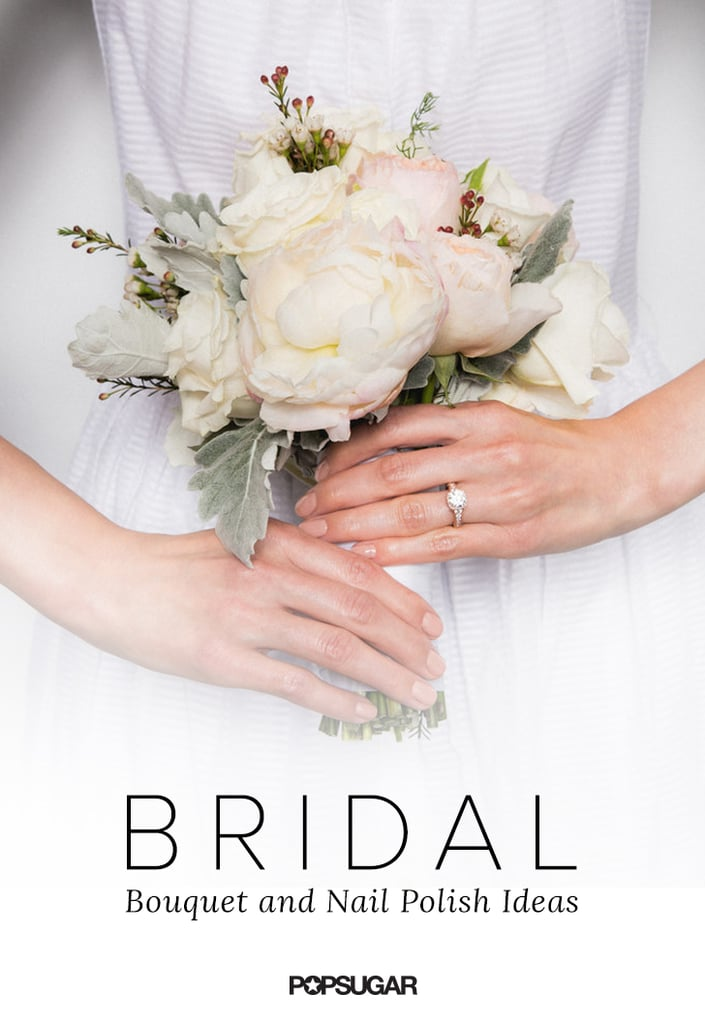 Bridal Nail Polish and Bouquet Ideas