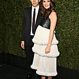 Keira Knightley's baby bump was on display at the Chanel and Charles Finch dinner at Madeo, which she attended with her husband, James Righton.
