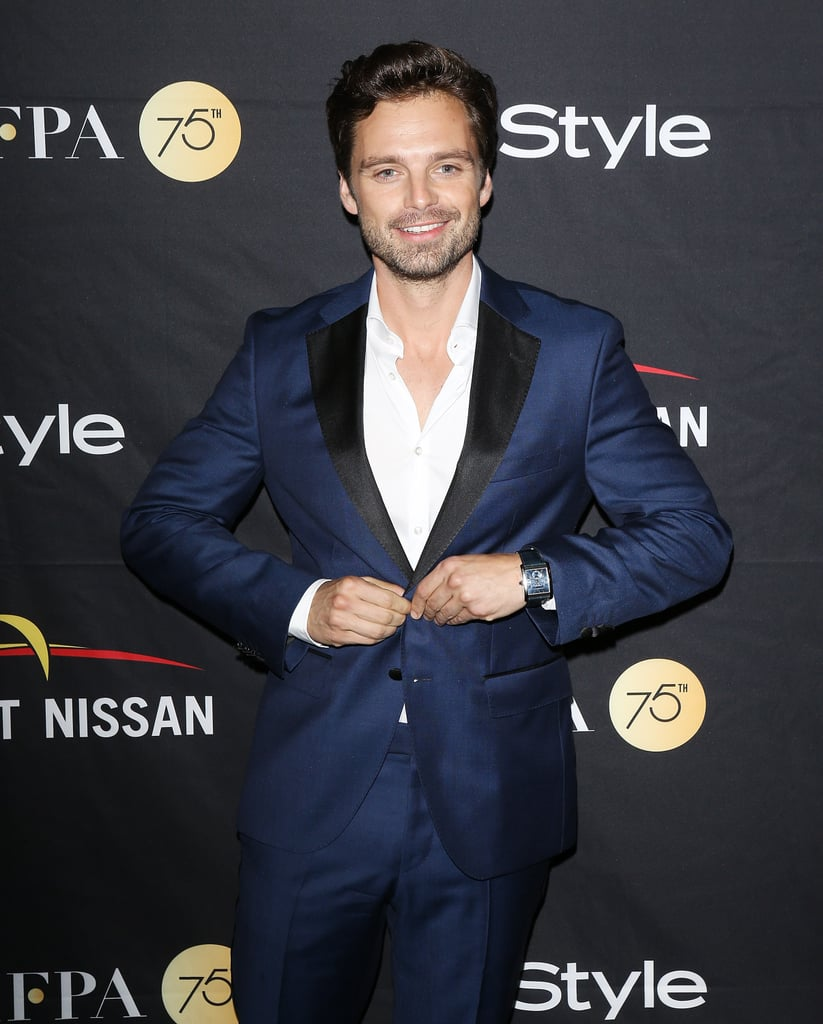It goes without saying that the cast of the upcoming Avengers: Infinity War is filled with delicious eye candy, and Sebastian Stan is no exception. While the actor certainly makes one impressive Winter Soldier, he's been causing hearts to melt way before he was Bucky Barnes. Not only did he play Upper East Side bad boy Carter Baizen on Gossip Girl, but you might also recognize him from his recent role in I, Tonya and the hit show Once Upon a Time. Keep scrolling for some of his hottest pictures to date.      Related:                                                                                                           4 Lucky Ladies Who Have Dated Sebastian Stan