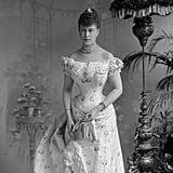 Mary of Teck dons a corset before her wedding in 1893.