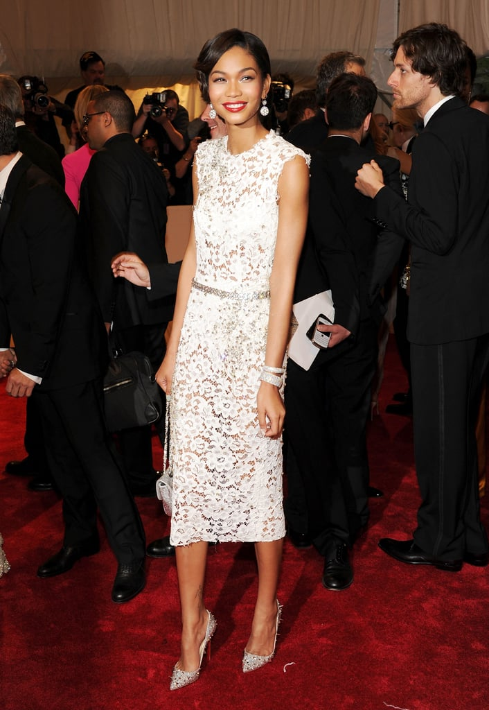 Chanel Iman in Dolce & Gabbana