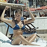 Valley of the Dolls star Sharon Tate got some sun during the festival in 1968.