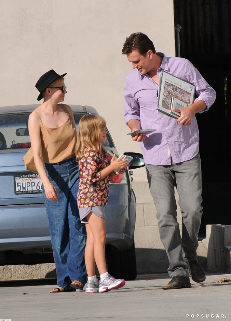 Michelle Williams and Jason Segel laughed with Matilda Ledger while out and about together in LA.