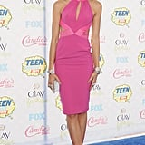 At the 2014 Teen Choice Awards, the singer stole the show in a neon-pink Material Girl dress.