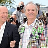 Bruce Willis and Bill Murray were arm in arm at the Moonrise Kingdom photocall at the Cannes Film Festival.
