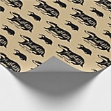 Harry Potter Hufflepuff Silhouette Typography Wrapping Paper