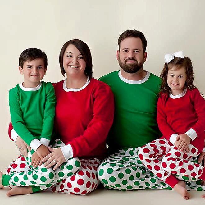Personalized Polka Dot Christmas Family Pajamas | Matching Family ...