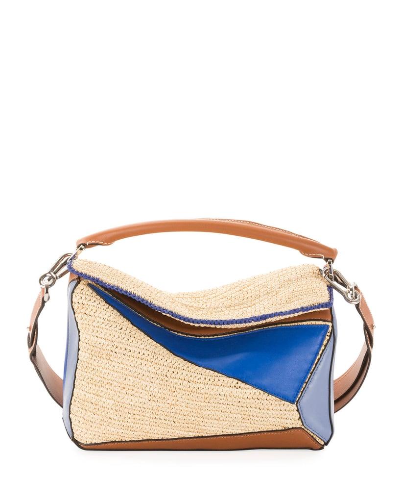 Loewe x Paula's Ibiza Puzzle Satchel Bag in Blue