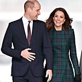 January: Kate was all smiles as she visited Dundee, Scotland.