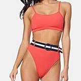 Jessica Simpson Hipster Bikini                                                   Ribbed Bralette Bikini Top