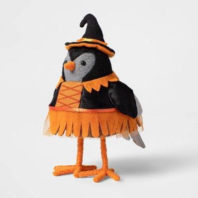 Featherly Friends Bird Witch Halloween Decorative Figurines