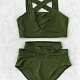 Shein Criss Cross Cut Front High Waist Bikini Set