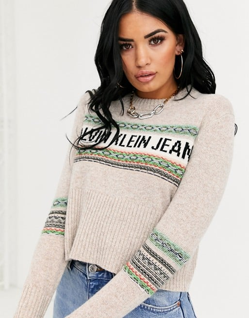 Calvin Klein Jeans Fairisle Logo Knit