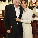 At Charlotte Tilbury S Covent Garden Flagship Launch Party In London 27 Pda Filled Moments Between Salma Hayek And Her Husband Francois Henri Pinault Popsugar Latina Photo 17