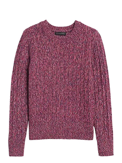 Marbled Wool-Blend Sweater