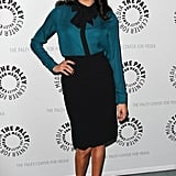 She Wore a Pussy-Bow Blouse and Pencil Skirt to the Paley Centre For Media Gathering