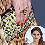 Olivia Palermo was in the South of France for the amfAR Cinema Against AIDS Gala. She wore her nails polished in a vibrant orange-red — a great shade for Summer.
