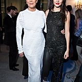 She Also Posed With Her Mum, Kris, Who Was Dressed in a White Gown