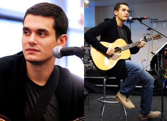 Photos of John Mayer Playing the Guitar at a Children's Hospital