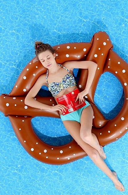 Help her make a hilarious pool statement with the silly pretzel float ($18).