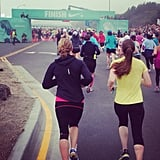 It's amazing how much of an adrenaline rush you get once you see the finish line ahead of you. If you have any energy left, challenge yourself by sprinting to the end! Also, don't forget to smile. Most races have photographers at the finish line taking shots of everyone as they make their way across.  Source: Instagram user lbraddybradshaw