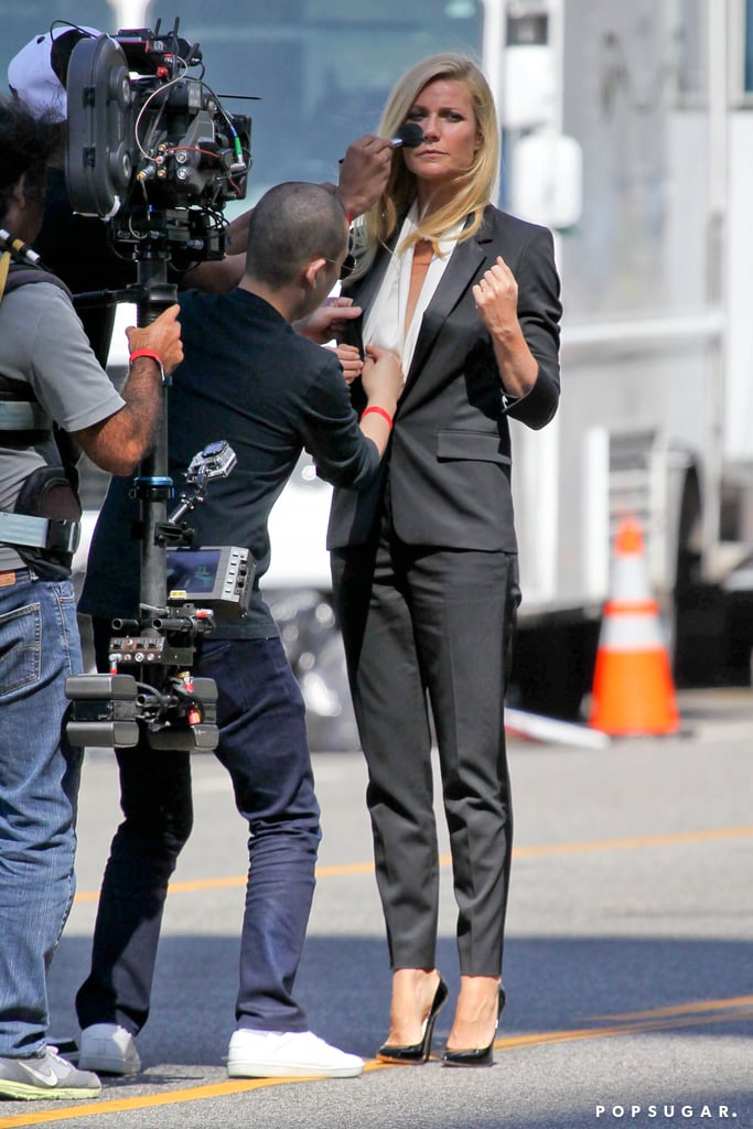 Gwyneth Paltrow got touched up on the set.