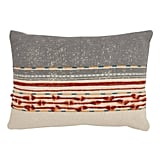 Celeste: Saro Lifestyle Cotton Down-fill Cord Applique Throw Pillow