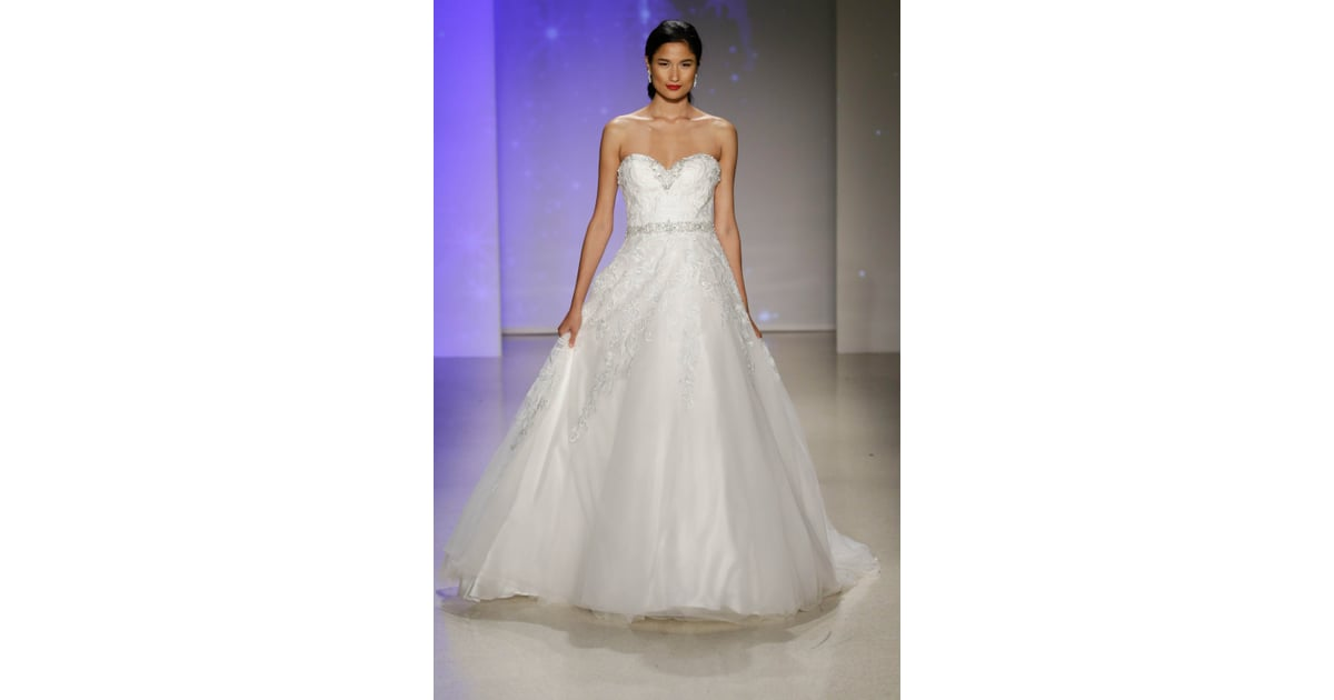 Here 39 s another snow inspired look alfred angelo disney for Disney inspired wedding dresses 2017