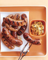 Sunday BBQ: Chicken Sausages With Grilled Onion Chowchow