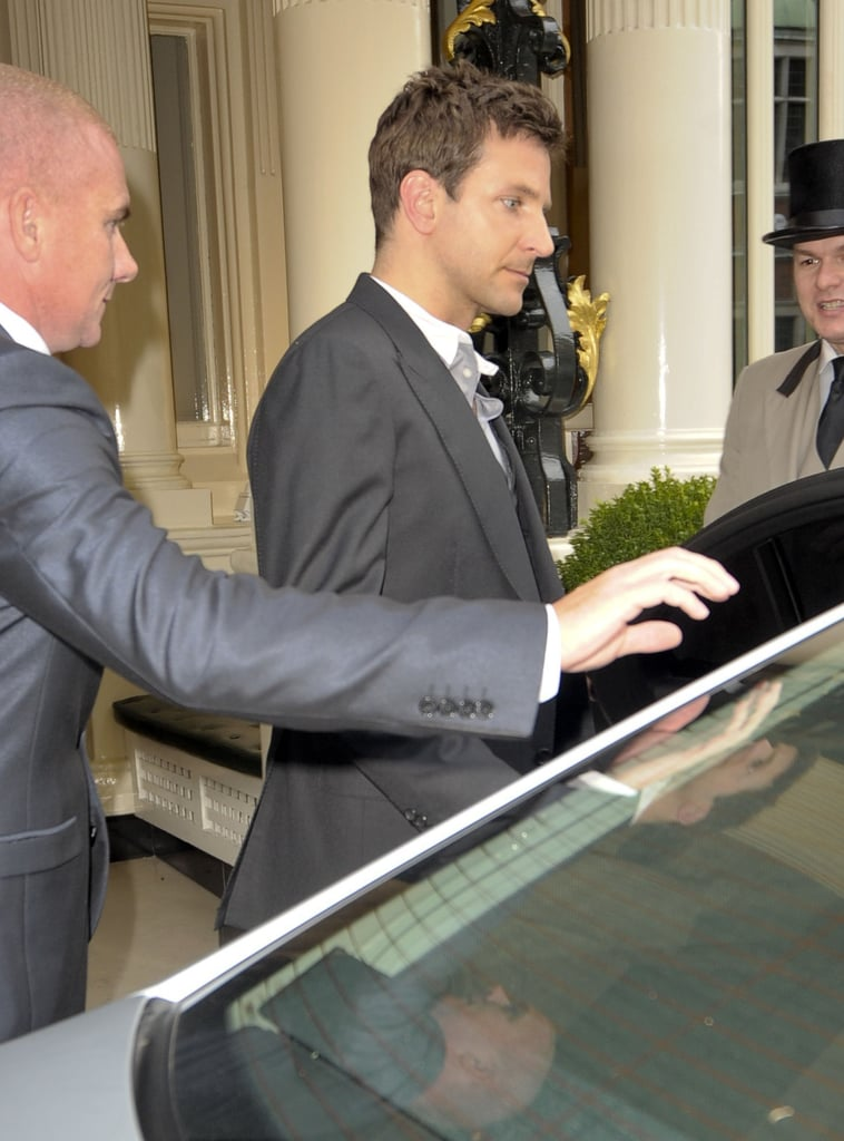 Bradley Cooper hopped into a waiting car.
