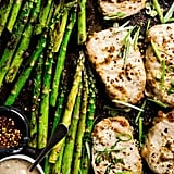 Baked Pork Chop and Asparagus Sheet-Pan Dinner