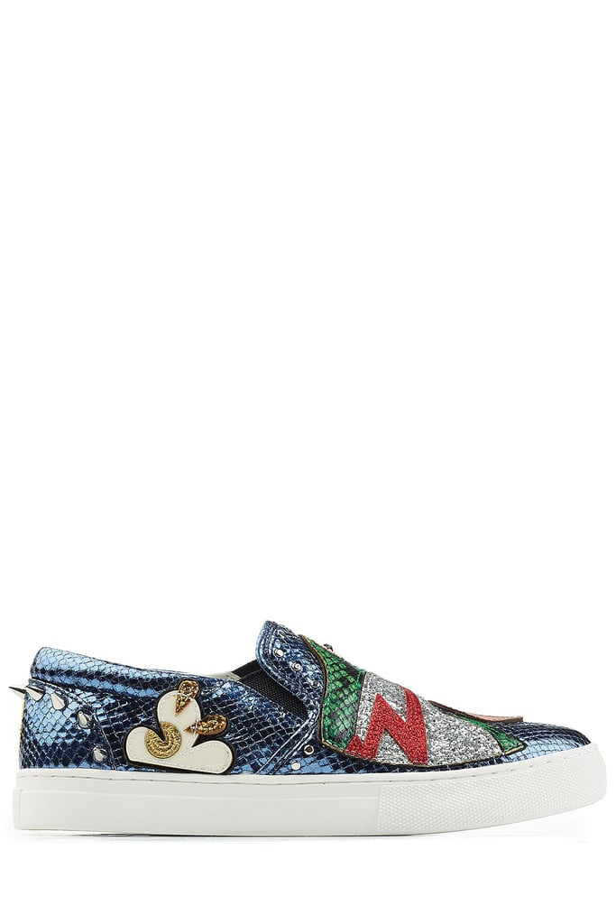 Marc Jacobs's Embellished Leather Slip-On Sneakers ($419) are playfully bizarre in the best possible way.