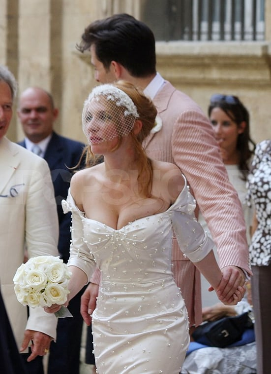 Just married Mark Ronson and Josephine de la Baume.
