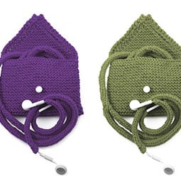 Knit iPod and Earbud Case