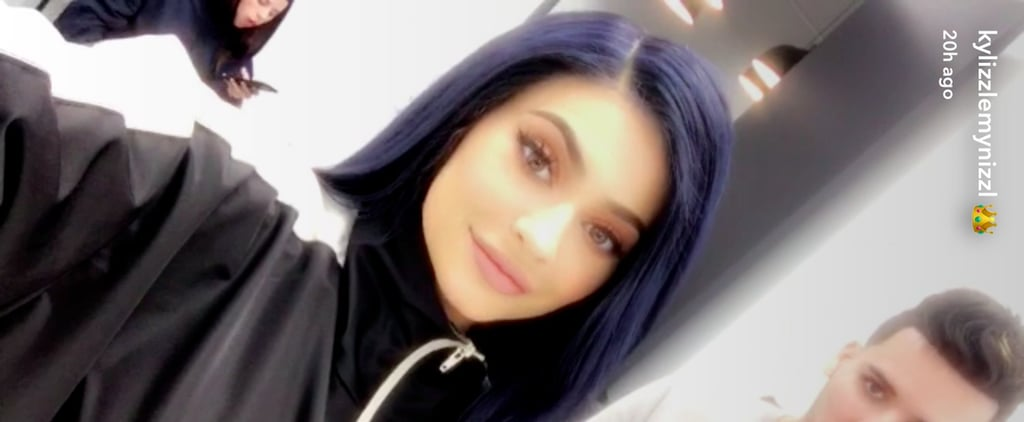 Cure Your Winter Blues With Photos of Kylie Jenner's Striking New Navy Hairdo
