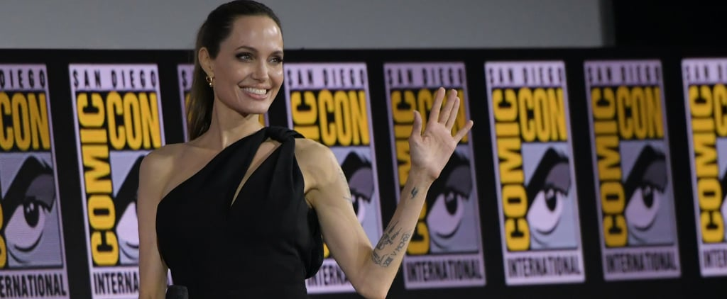Angelia Jolie Wears Black Dress to San Diego Comic-Con 2019