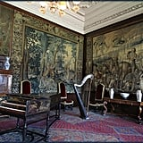 The inside of Scotland's Palace of Holyroodhouse is timeworn and elegant.
