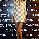 Miranda Kerr sported a Louis Vuitton dress at the opening of the boutique in Cancun.