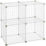 AmazonBasics 4 Cube Grid Wire Storage Shelves