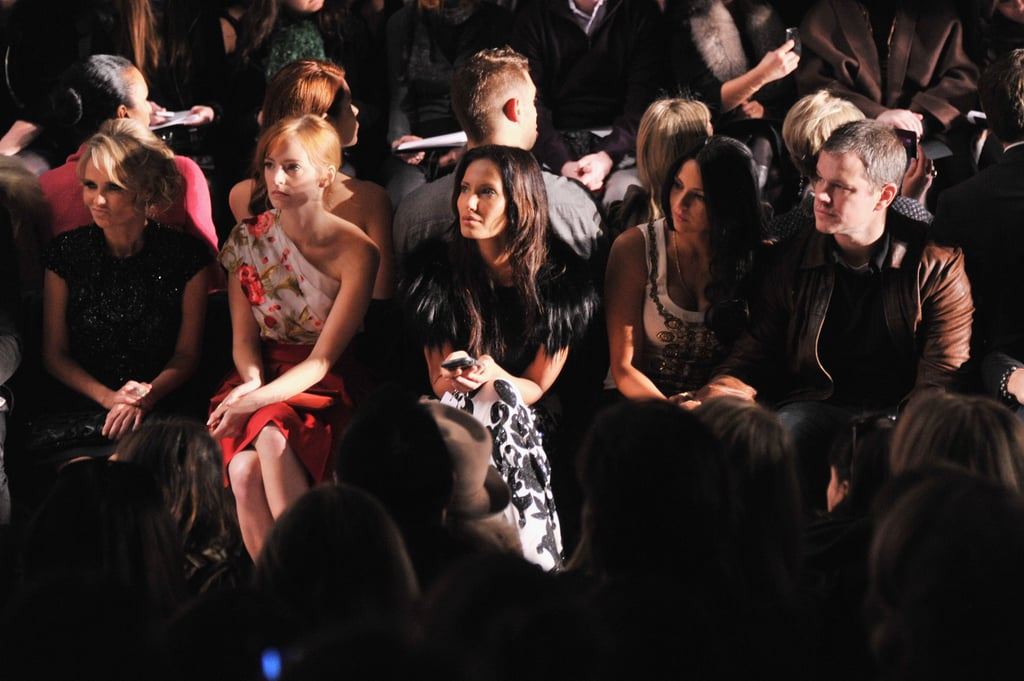 Kristin Chenoweth, Ahna O'Reilly, Padma Lakshmi, Luciana and Matt Damon at Naeem Khan