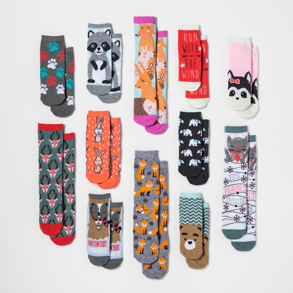 Women's Forest Animal 12 Days of Socks Set