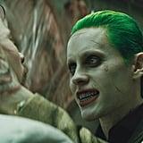 The Joker (Jared Leto) puts his intimidation skills to use.