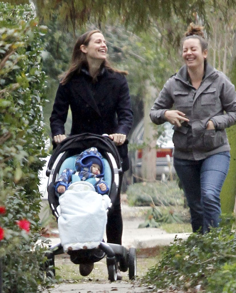 Jennifer Garner pushed Samuel Affleck in his stroller in New Orleans.
