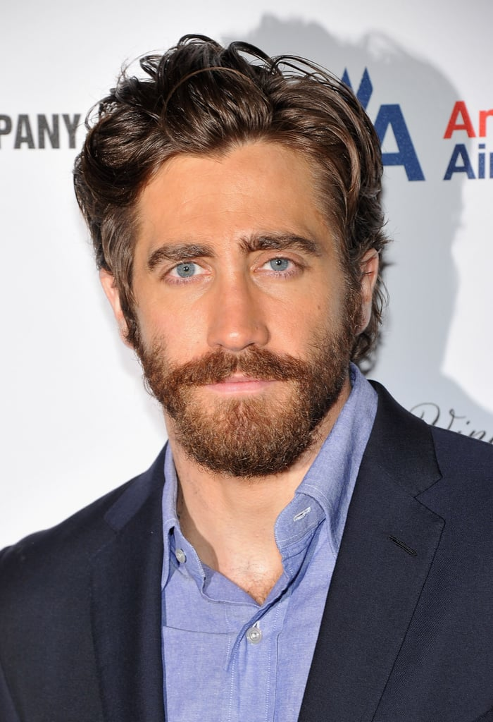 Jake Gyllenhaal modeled a grizzly beard.