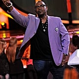 Randy Jackson looked ready for Spring in his purple jacket.