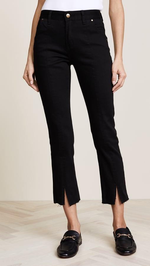 EVIDNT Front Slit Crop Jeans