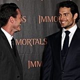 Luke Evans and Henry Cavill had a laugh at the LA premiere of Immortals in November 2011.