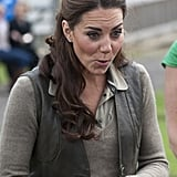 Kate Middleton visted Expanding Horizons primary school outdoor camp.