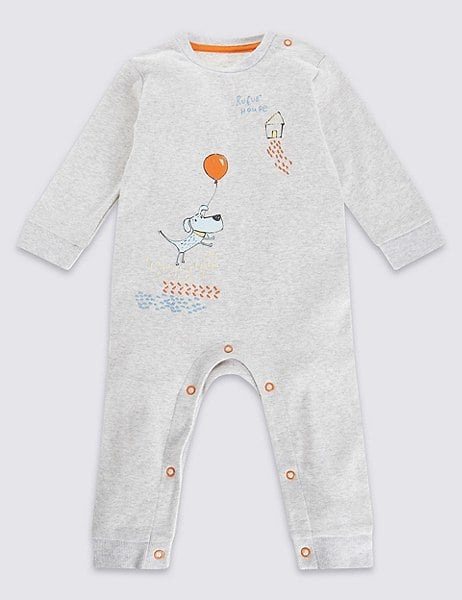 Marks and Spencer Pure Cotton Dog Print Onesie ($16)