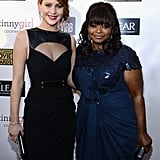 Best actress in a comedy winner Jennifer Lawrence and Octavia Spencer posed for a photo at the Critics' Choice Awards.